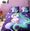 Rainbow Unicorn Fairytale Mandala Paisley Background Bedding Set
