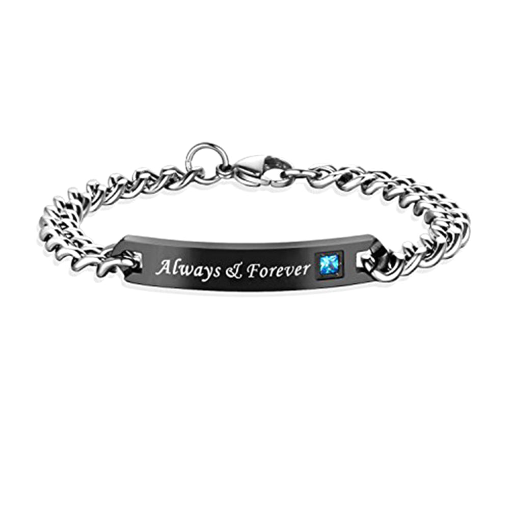 a85c1d6e51 Couple Bracelet DIY Jewelry Always & Forever Matching Handled - Gift ...