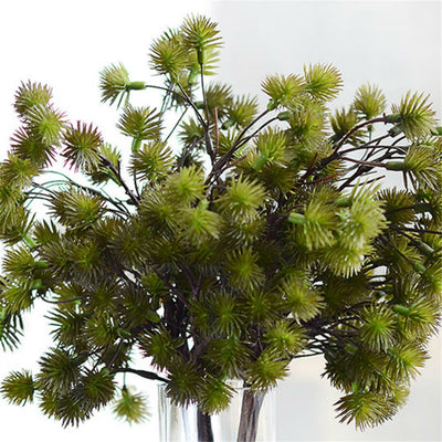 Dried Branches DIY Green Artificial Plant Mini Pine Needle Flowers Home Handled