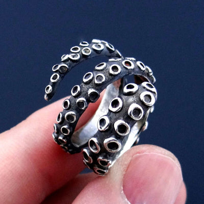 Ring Antique Style Octopus Adjustable Ring Handled