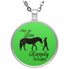 Horse And She Lived Happily Ever After Necklace