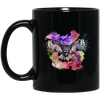 Rainbow Background With Beautiful Owl Mug