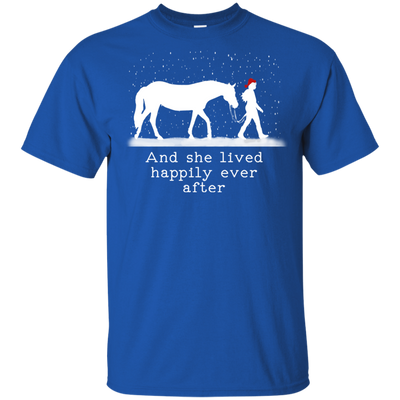 Christmas And She Lived Happily Ever After T Shirt