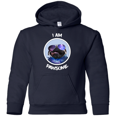 Nice Pug T Shirt - I Am Pawsome Pug, is a cool gift for friends