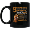 Five Things I Like Almost As Much As Poodles Mug