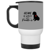 Nice Poodle Mug - Home Is Where Your Poodle Is, is a cool gift
