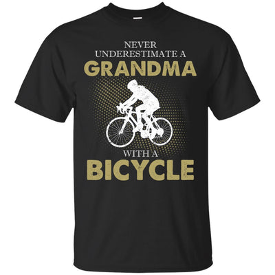 Never Underestimate A Grandma With A Bicycle T Shirt