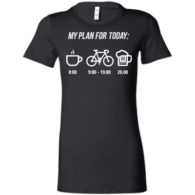 My Plan For Today Coffee Beer Cycling T Shirt