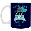 Deep Sea Lovely Color Grandpa Shark Mug