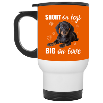 Nice Dachshund Mug - Short On Legs Big On Love, is a cool gift