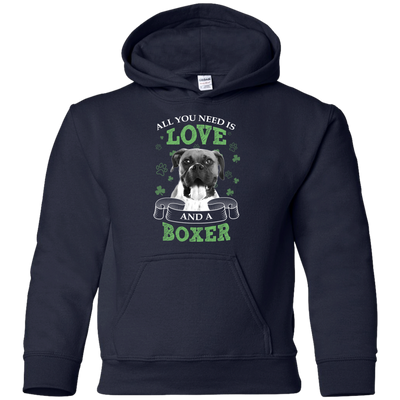 Nice Boxer Black T Shirt - All You Need Is Love And Boxer St Patrick