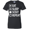 Eat Sleep Scout Repeat Girl Scouts T Shirt