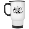 The Adventure Begins Camping Travel Mug