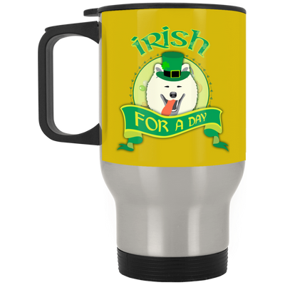 Nice Samoyed Mug - Irish For A Day, is a cool gift for friends