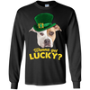 Nice Pitbull T Shirt - Wanna Get Lucky, is a cool gift for friends