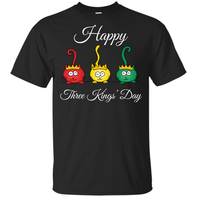 Nice Cat T Shirt - Three Kings' Day Cat, is a cool gift for friends