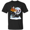 Xmas - Santa With Reindeer German Shorthaired Pointer T-shirt