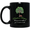 Thank You For The Difference You're Made In Our Life Green Tree Mug