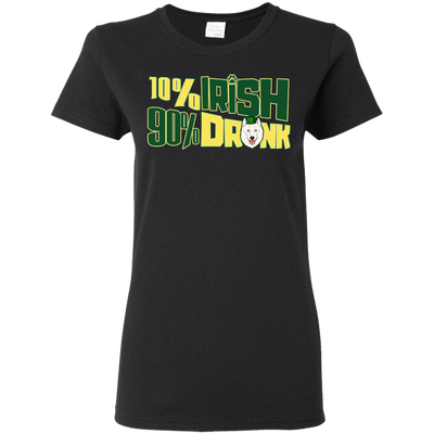 10% Irish 90% Drunk Samoyed T Shirt