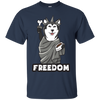 Colorful Black Presents For Collection Husky T Shirt Freedom