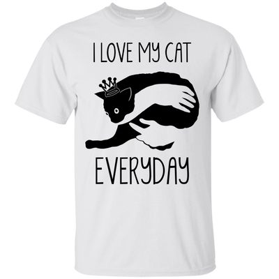 Nice Cat T Shirt - I Love My Cat Every Day, is cool gift for friends