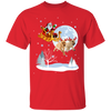 Xmas - Santa With Reindeer Labrador Retriever T-shirt