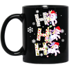 Ho Ho Ho Unicorn With Led In Snow Mug