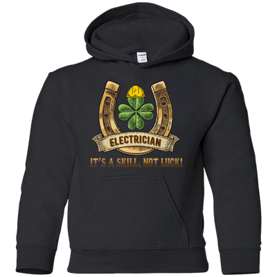 Electrician It's A Skill, Not Luck T Shirt