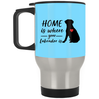 Nice Labrador Mug - Home Is Where Your Labrador Is, cool gift