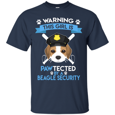 This Girl Is Pawtected By Beagle Security T Shirt