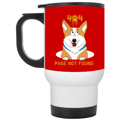 404 Page Not Found Corgi Mug