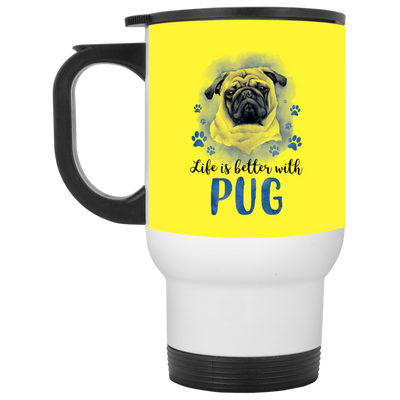 Nice Pug Mug - Life Is Better With Pug, is a awesome gift