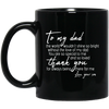 Dad So Special To Me And So Loved Father Son Mug