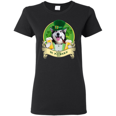 Nice Husky T Shirt - Happy St Patrick's Day, is a cool gift for you