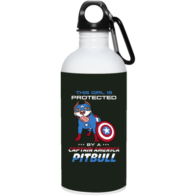 Nice Pitbull Mug - This Girl Is Protected By Captain America