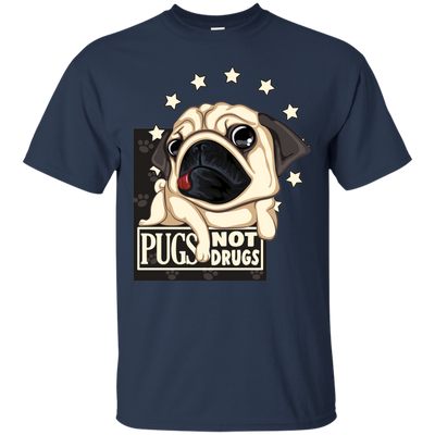 Lovely Black Gift For Collection Dog T Shirt Pugs Not Drugs V2