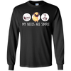 Nice Pug T Shirt - My Need Is Simple, is a cool gift for your friends