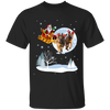 Xmas - Santa With Reindeer German Shepherd T-shirt