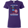 Nice Dachshund T Shirt - This Girl Is Protected By Captain America