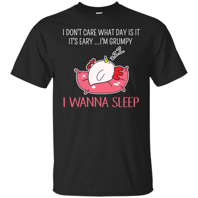 Lovely Chicken T Shirt I Don't Care What Is It I Wanna Sleep