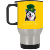 Nice Husky Mug - Wanna Get Lucky, is a cool gift for friends
