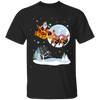 Xmas - Santa With Reindeer Pitbull T-shirt