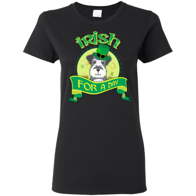 Nice Schnauzer T Shirt - Irish For A Day, is a cool gift for friends