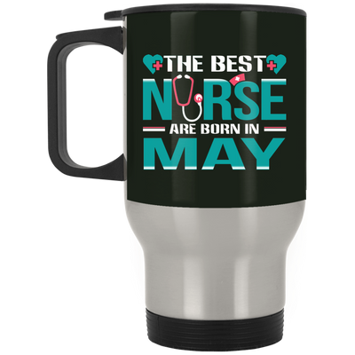 Nice Nurse Mug - The Best Nurses Are Born In May, cool gift