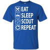 Eat Sleep Scout Repeat Girl Guides Australia T Shirt