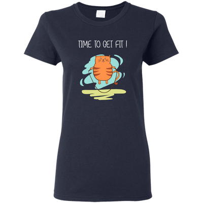 Time To Get Fit Cat T Shirt