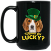 Nice Beagle Mug - Wanna Get Lucky, is a cool gift for friends