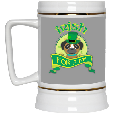 Nice Boxer Mug - Irish For A Day, is a cool gift for friends