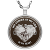 No Longer At My Side But Always In My Heart Horse Necklace