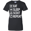 Eat Sleep Scout Repeat Scout Canada T Shirt